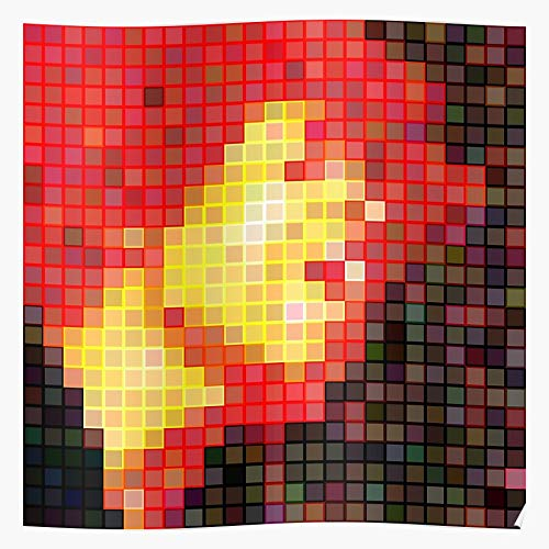 Pixels Bucket Pixel Pixelated Music Album Listen Popular List Poster de impresion de arte de pared para decoracion del hogar!