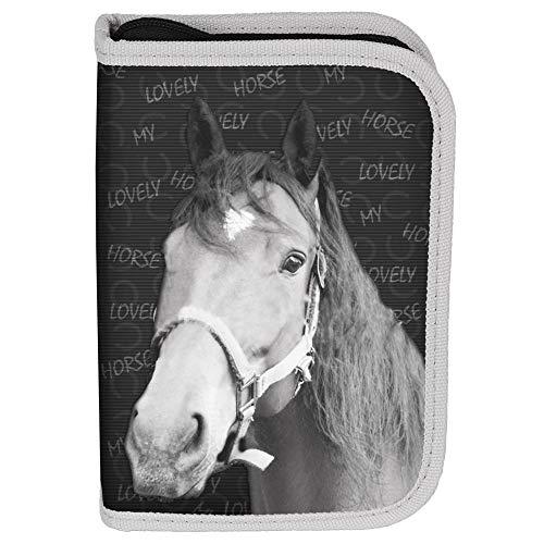 Kinder FEDERTASCHE 22-TEILIG - Pferd My Lovely Horse - GRAU