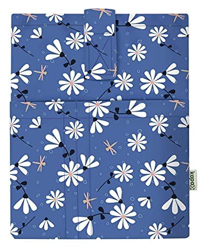 Funda de libro, cubierta para libros de tapa blanda, tejido lavable, impermeable, de protección, acolchada, para tableta de adultos (manzanilla)