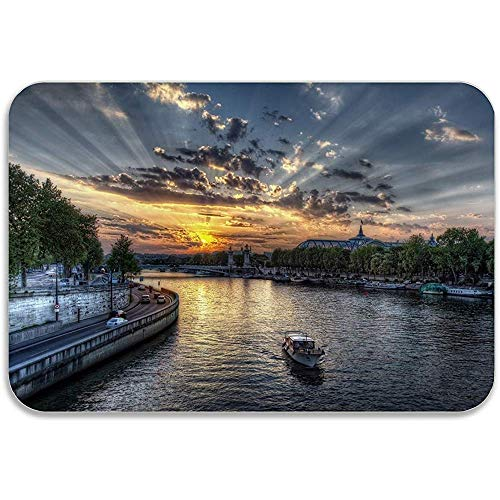 Entree tapijt Amsterdam River Under The Soft Sunshine 40X60Cm Ingang Deur Mat Voordeur Patio Decoratieve All-Season Deurmat Niet-slip