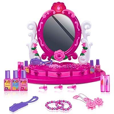 UNIH Kids Vanity Toys, Toddler Vanity Set with ...