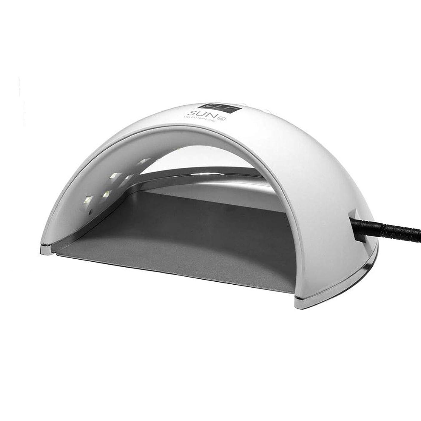 終了しました道徳飢えたスマートなランプ機能、30秒/ 60秒の時間設定および99秒の低熱のゲルのマニキュアのシェラックのための48W紫外線LEDランプの釘のドライヤー