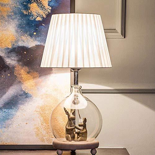 YZYZYZ Elch LED hert nachtlampje en glazen vaas design handgemaakte hars hert lamp lichaam slaapkamer studie decoratief geschenk tafellamp