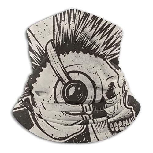 Skull Iroquois Music Headphones Neck Warmer Gaiter...