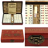 SL Vintage Mahjong Rare 144 Tiles Mah-Jong Set Bamboo Piece w/ English Instructions