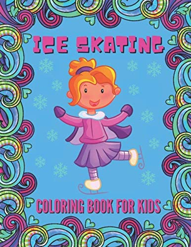 Ice Skating Coloring Book For Kids Perfect Gift for Boys and Girls for Christmas Holiday and product image