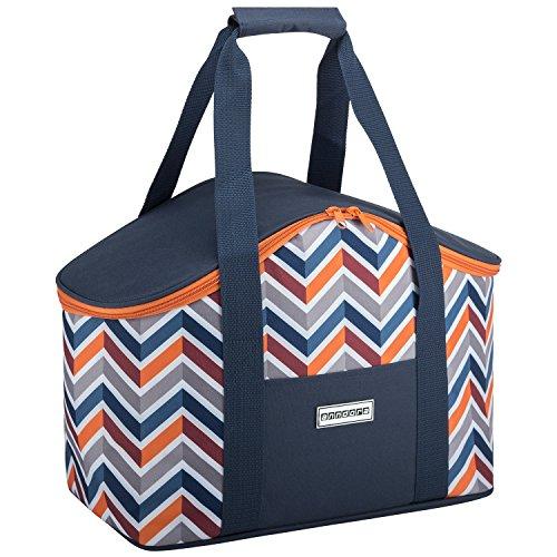 anndora Kühltasche 20 Liter - dunkelblau orange