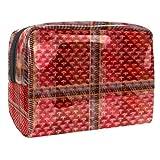 Bolsa de maquillaje portátil con cremallera bolsa de aseo de viaje para las mujeres práctico almacenamiento cosmético bolsa de asiento de coche cortina