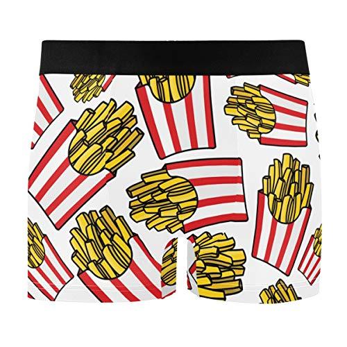 French Fries Men's Underwear Men Boxer Briefs Comfort Soft Boxer Briefs