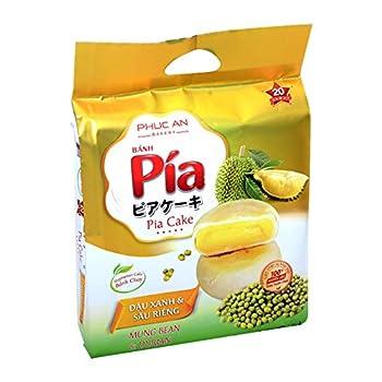 Ban Pia Dau Xanh & Sau Rieng  Mung Bean & Durian Cake  4 Cakes - Pack of 1