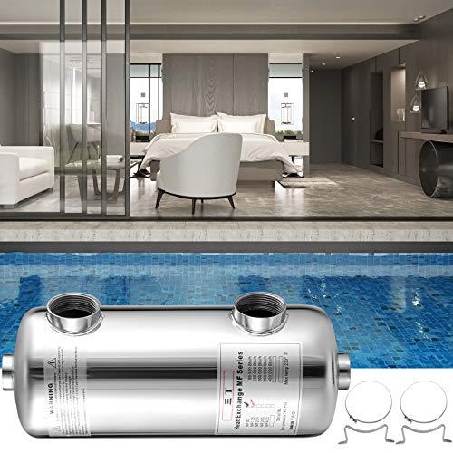 VEVOR Schwimmbad Wärmetauscher 135 KBtu/h Edelstahl Wärmetauscher Pool für Schwimmbäder Spas Whirlpools usw.