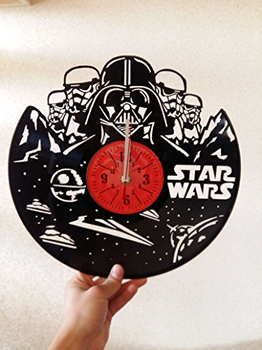 STAR WARS Handmade Vinyl Record Wall Clock - Get unique home room wall decor - Gift ideas for parents, teens – Epic Movie Unique Modern Art
