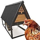 Pollaio Recinto coperto per polli galline Gabbia per pollame 135x75x100 cm
