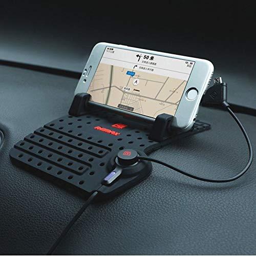 REMAX KFZ Auto Halter Halterung Rutschsicher Matte Handyhalterung mit GPS & Ladefunktion passt für Ulefone Armor 5S, Armor 6S, Armor 3W, TCL PLEX, CUBOT X19 4G LTE, MAX 2, R19, R15 Power Smartphone
