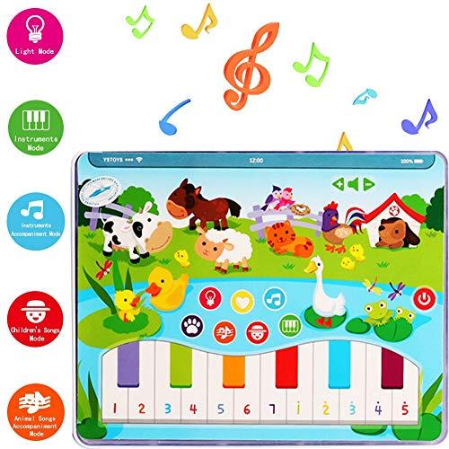 Máquina De Aprendizaje De Tabletas De Aprendizaje Temprano Para Madres Y Bebés, Divertidos Juguetes Interactivos Para Padres E Hijos Y 10 Tipos De Canciones De Animales Y Botones Para Tocar El Piano