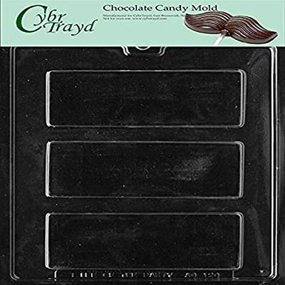 Cybrtrayd Life of the Party AO120 Candy Bar Chocolate Candy Mold in Sealed Protective Poly Bag Imprinted with Copyrighted Cybrtrayd Molding Instructions
