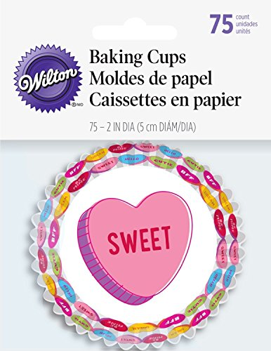 Wilton Standard Baking Cups-Words Can Express 75/Pkg, Multi