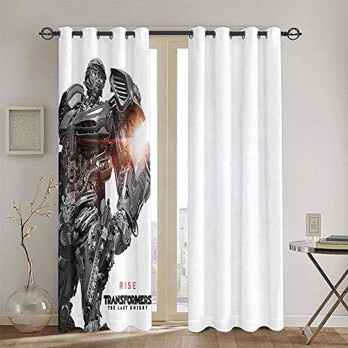 Cortinas decorativas Transformers The Last Knight para habitaciones de niños, cortinas opacas con ojales, 106,7 x 137,1 cm
