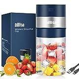 allisa Portable Blender, 15 oz Personal Blender for Shakes Protein Fruit Smoothies, 6 Blades 85W...