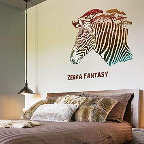 Cooldeer Kreative Wohnzimmer Schlafzimmer Bar Veranda Kiefer Zebra Entfernbare Wandaufkleber Personalisierte Mode Aufkleber