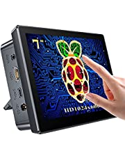 UPERFECT Raspberry Pi Touchscreen Monitor with Case, 10.1'' IPS 1920X1200 Ultra Wide Screen, 10-Point Touch, Heat Sink, Dual Speakers and Stand All-in-ONE, Type-C, HD for Raspberry Pi 3/4, Phones, PC