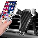 BRAINWIZZ Support Téléphone Voiture Gravité à Grille Aération en Aluminium Compatible avec iPhone XS Max XR X 8 Plus 7 6, Samsung Galaxy S10 S9 S8 S7 S6, Huawei P20 Mate 20 Pro