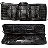 WolfWarriorX Double Long Rifle Gun Case Bag Tactical Carbine Cases Water Dust Resistant Firearm Shotgun Bag Outdoor MOLLE Hunting Shooting Storage Transport, Available in 38' 42' (BM, 38inch)