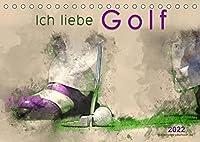 Ich liebe Golf (Tischkalender 2022 DIN A5 quer): Golf, einfach mal wieder einlochen, beeindruckende Bilder in Wasserfarben-Technik. (Monatskalender, 14 Seiten )