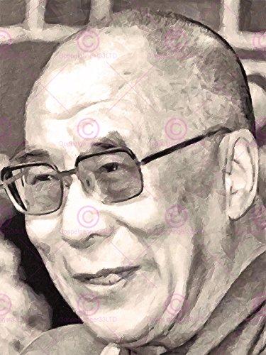 Doppelganger33 LTD Painting Portrait Buddhist Spiritual Leader Dalai Lama Canvas Art Print