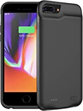 FNSON Battery Case for iPhone 6 Plus/6s Plus, 6500mAh Portable Protective Charging Case Compatible with iPhone 6 Plus/6s Plus (5.5 inch) Rechargeable Extended Battery Charger Case (Black)