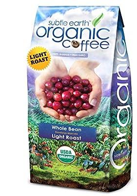 Cafe Don Pablo 2LB Subtle Earth Organic Gourmet Coffee - Light Roast - Whole Bean Coffee - USDA Certified Organic Arabica Coffee - (2 lb) Bag