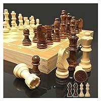 磁気チェスの木のチェスセットインターナショナルチェスゲーム木製チェスのピース折りたたみ式木製チェス盤 (Color : 24X24cm)