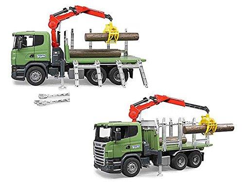 LIBERAONLINE Scania LKW mit Kran und Baumstämme Spiel Spielzeug Geschenk # AG17