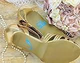 Schuhsticker'I Do - 13 Farben wählbar - Hochzeit Schuhaufkleber Farbe wählbar - Aufkleber für Schuhe