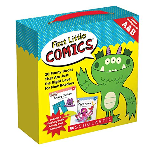 Compare Textbook Prices for First Little Comics Parent Pack: Levels A & B: 20 Funny Books That Are Just the Right Level for New Readers Box Pck Ac Edition ISBN 9781338180268 by Charlesworth, Liza