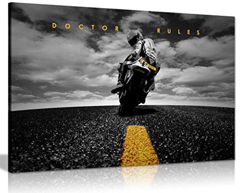 Panther Print Kunstdruck auf Leinwand, Motiv: Doctor Rules Valentino Rossi Yamaha Motogp, 61 x 40,6 cm