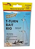 Thundermist Lure Company Perfect Series - RIG# 1A-6-G Pre-Tied T-Turn Bait Rig, Clear
