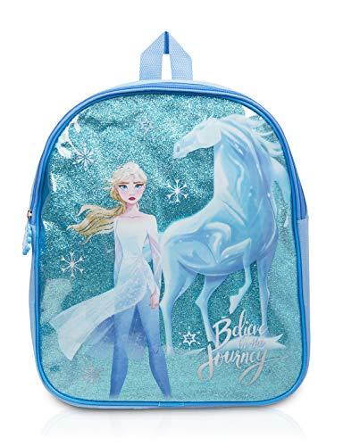 Disney Frozen 2 rugzak, kleine dagrugzak voor de kleuterschool, meisjes backpack met schattig motief van ELSA, Frozen ijskoningin rugzak blauw, meisjes schoolrugzak Fashion