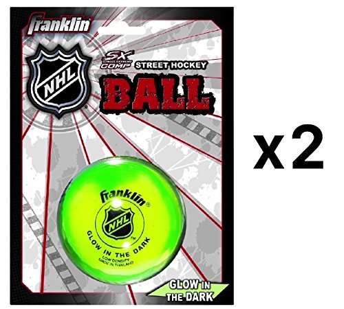 Franklin Glow in the Dark Street Hockey Ball Puck Hohe Dichte Langlebig (2er Pack)