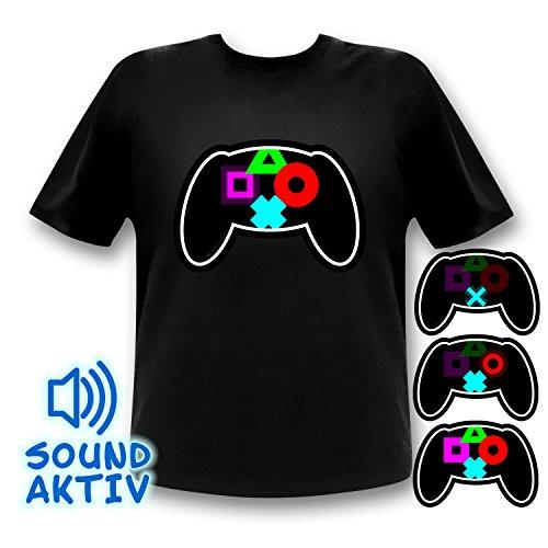 Preisvergleich Produktbild LED Equalizer Shirt für Gamer und Zocker (Medium)