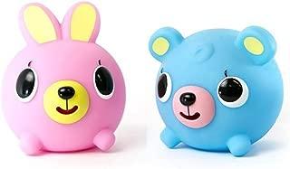 Oshaberi Doubutsu Talking Animal Ball Borukuma Stress Ball - Pink Bunny and Blue Bear - Set of 2