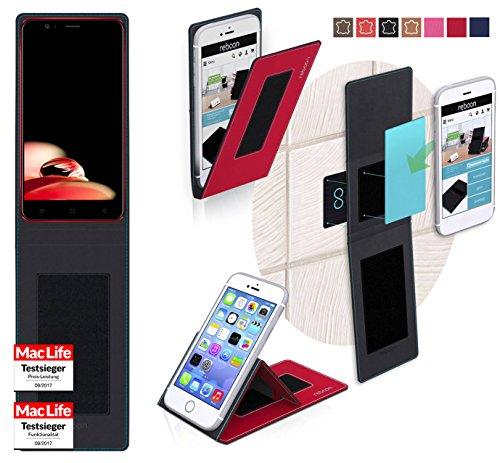 Hülle für Elephone P8 Mini 2017 Tasche Cover Hülle Bumper   Rot   Testsieger