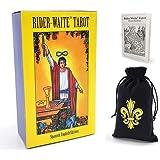 WEAMO Rider Waite Tarot Baraja de cartas Edición en español en inglés, Adivinación Adivinación Juego de cartas Juego de mesa, con guía impresa y bolsa de terciopelo