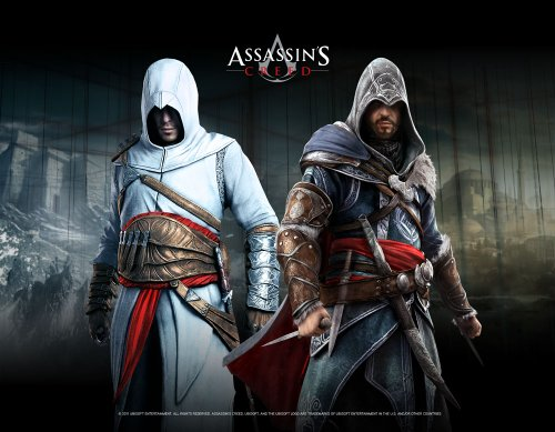 Gaya Entertainment Assassins Creed - Póster enrollable con diseño de Altair y Ezio Blackroom