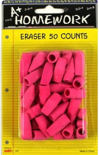 50 Pink Ranking TOP9 Pencil Top 48 Case of Erasers Fort Worth Mall