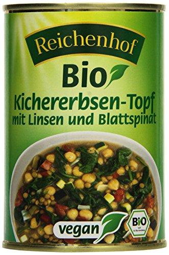 Reichenhof Bio Kichererbsen-Topf  - vegan, 6er Pack (6 x 400 g)