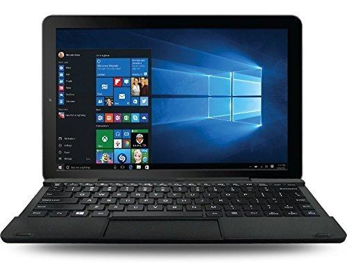 RCA Cambio 10.1 inches 2-in-1 Detachable Tablet, Intel Atom Fast Quad-Core Processor, 2GB RAM, 32GB Storage, Webcam, WiFi, Bluetooth, IPS Touchscreen Windows 10, (1 Year Warranty) (Black) (Renewed)