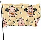 ALLdelete# Flags Flügel Schwein langlebig verblassen beständig dekorative Fahnen Flagge mit Ösen Polyester Deluxe Outdoor Banner für alle Jahreszeiten Urlaub 3 X 5 ft