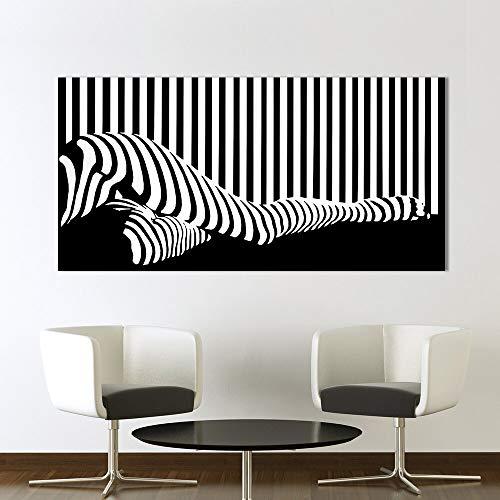 hetingyue Cuadro de Arte decoración del hogar Mujer Silueta Lienzo Pintura Pintura sin Marco 45x90cm