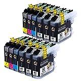 AUBEN Reemplazo para Brother LC223 Cartuchos de Tinta 12 Compatible con Brother MFC-J5320DW J480DW J5720DW J5625DW J4620DW J4420DW J880DW J5620DW J680DW DCP-J4120DW J562DW MFC-J480DW MFC-J5720DW